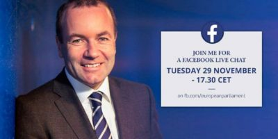 Manfred Weber chairman of the EPP group LIVE on EP facebook