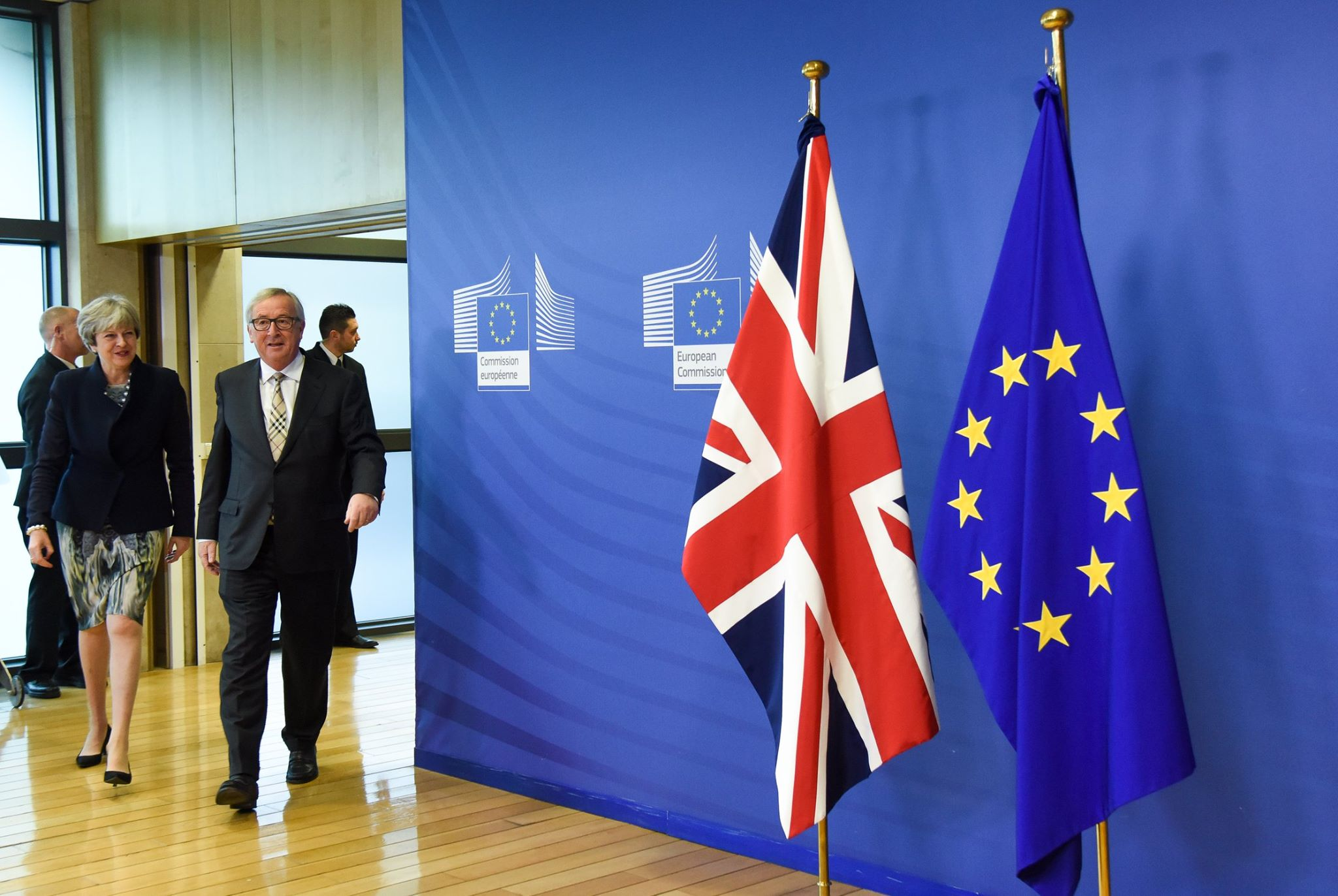 President Jean-Claude Juncker and British Prime Minister Theresa May on Brexit