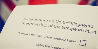 UK referendum on EU Membership - ballot paper brexit