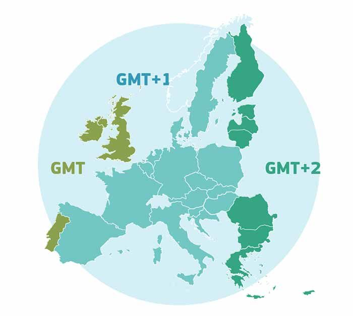 GMT TIME EU Greenwich Mean Time