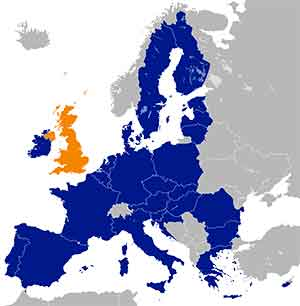 UK location in the EU