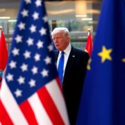 US President Donald Trump in Europe Brussels
