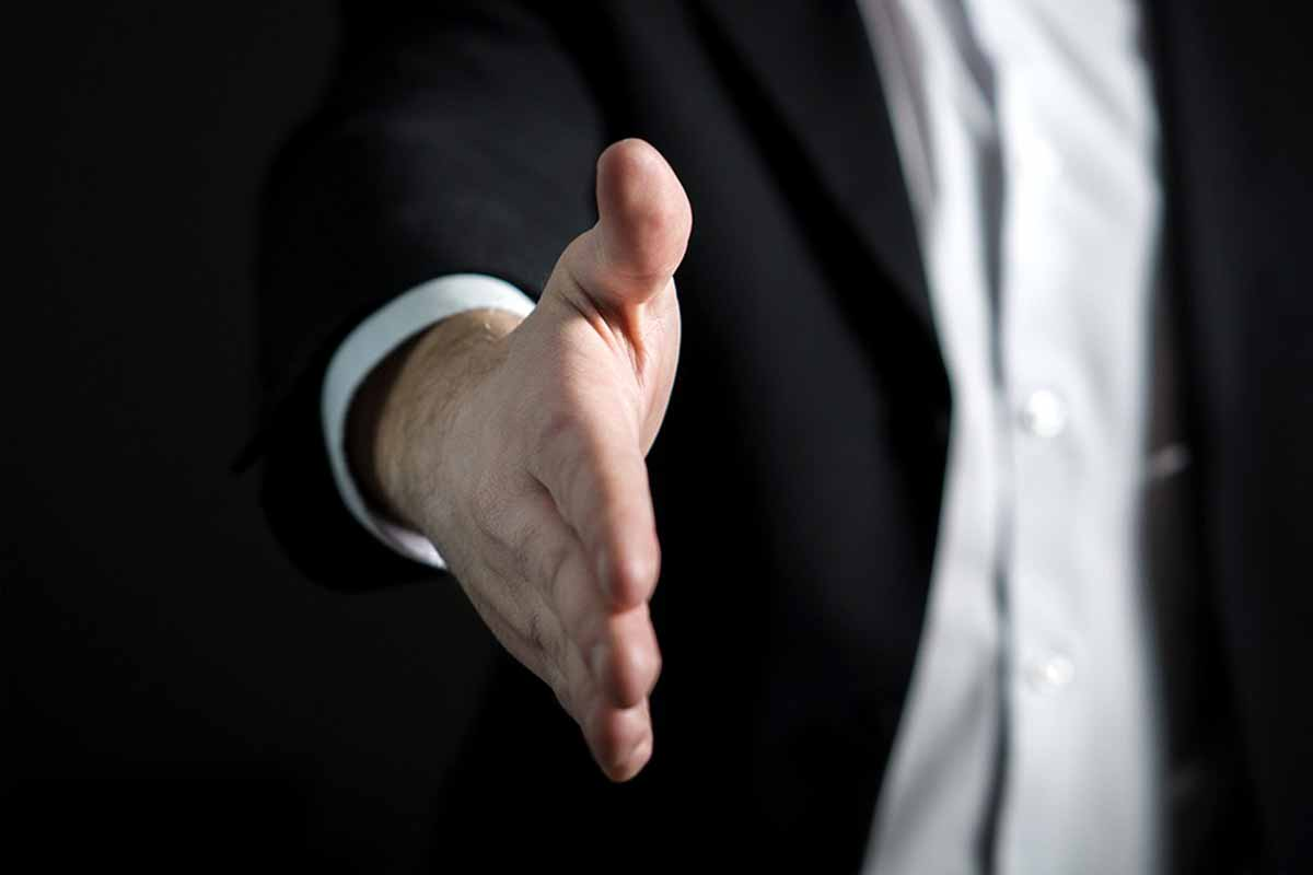 Whistleblower Handshake Hand Give Business Man Giving Offer