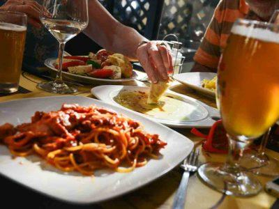 food-meal-eating-pasta-beer