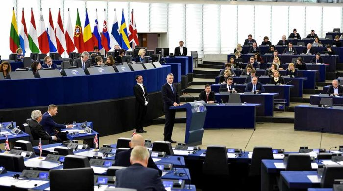 Slovak Prime Minister Peter Pellegrini in EP Strasbourg