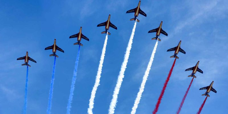 FRANCE flag sky jets Airoplanes