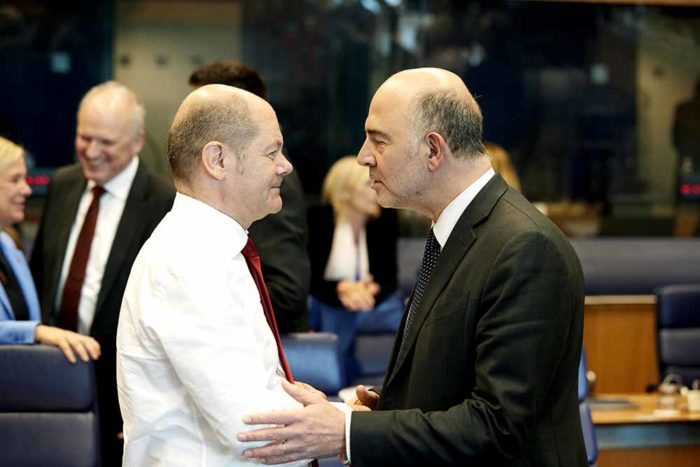 Mr Olaf SCHOLZ German Federal Minister for Finance Mr Pierre MOSCOVICI European Commissioner for Economic and Financial Affairs Taxation and Customs