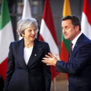 Ms Theresa MAY UK Prime Minister Mr Xavier BETTEL Luxembourg Prime Minister