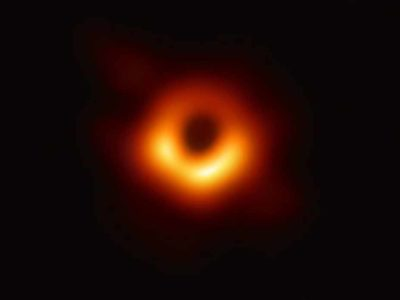 This is the first ever image of a black hole