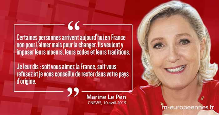 Marine Le Pen Rassemblement National RN