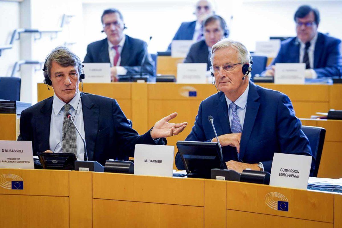 David Sassoli Michel Barnier