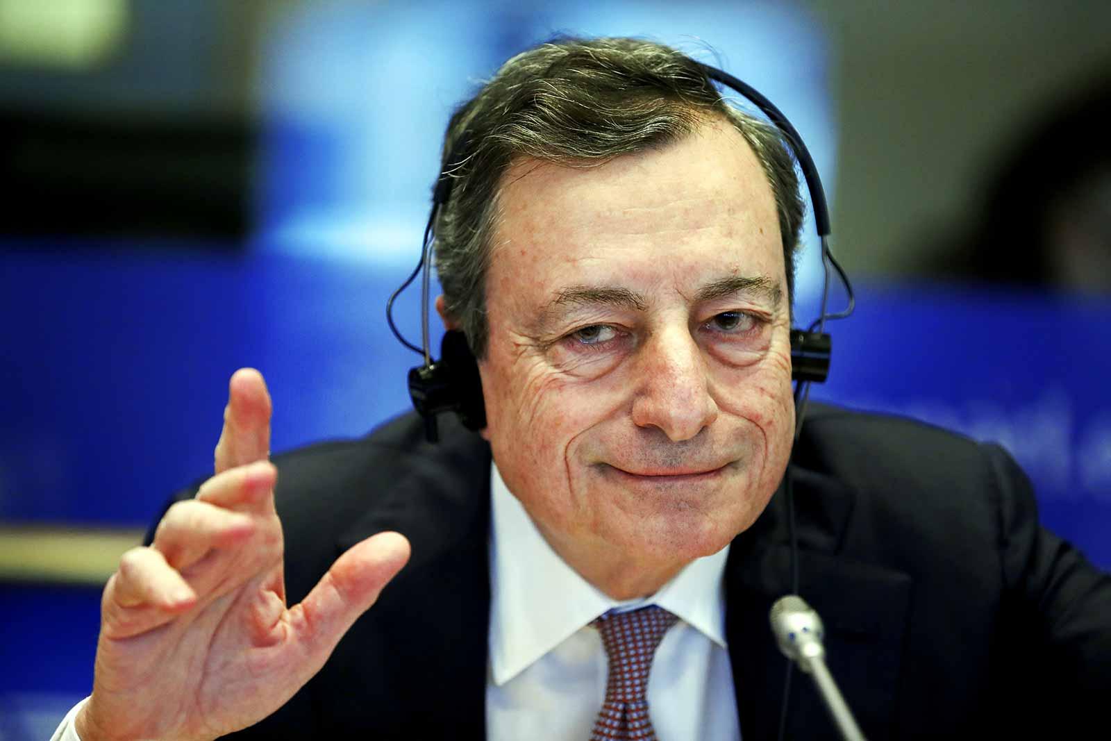 Mario Draghi, ECB President at the EU Parliament