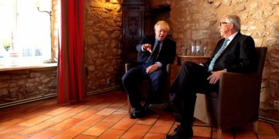 President Jean-Claude Juncker and UK Prime Minister Boris Johnson
