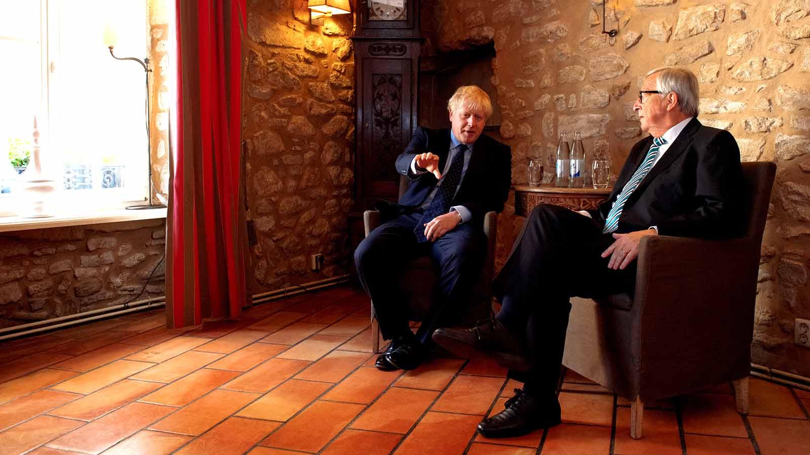 President Jean-Claude Juncker and UK Prime Minister Boris Johnson