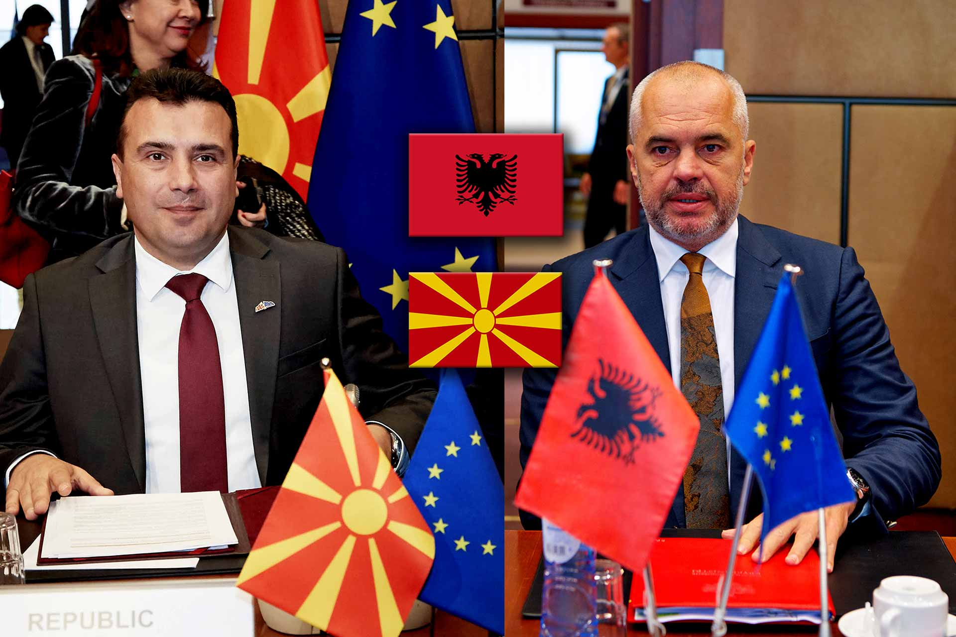 Albania and North Macedonia