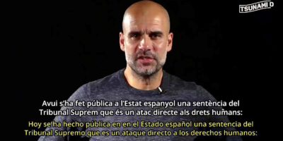 Guardiola debates the Catalan sentence