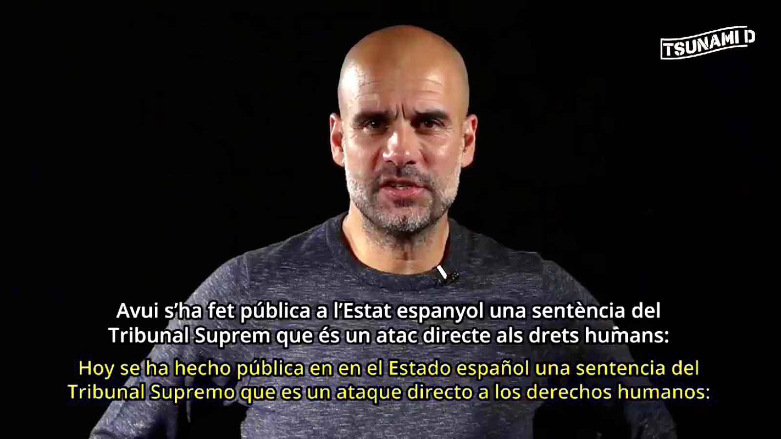 Guardiola debates the Catalan sentence