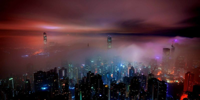 Hong Kong clouds by night
