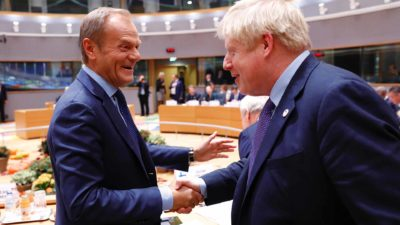 Boris Johnsin UK Prime Minister President Tusk