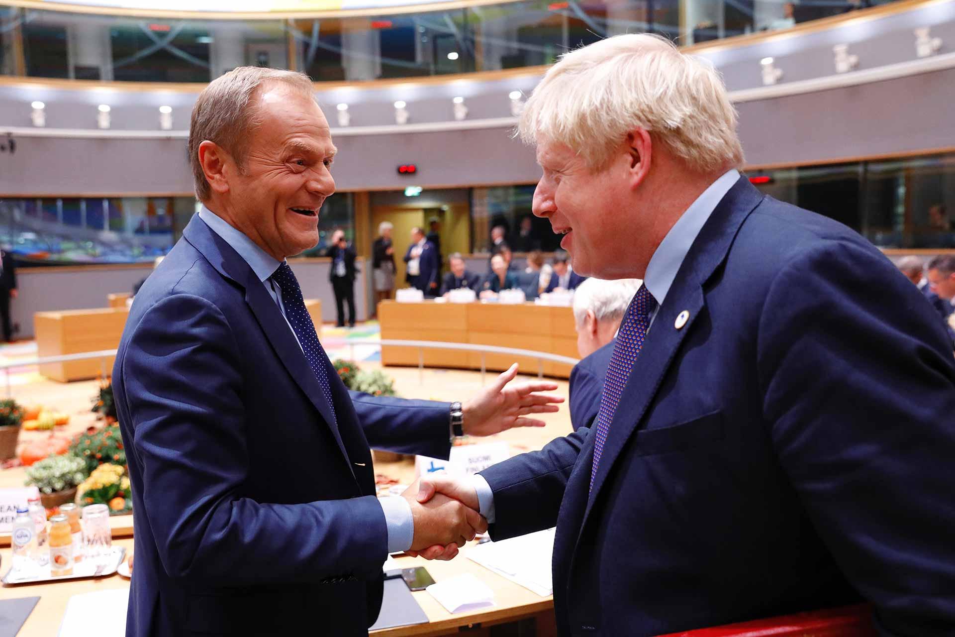 Boris Johnsin UK Prime Minister President Tusk
