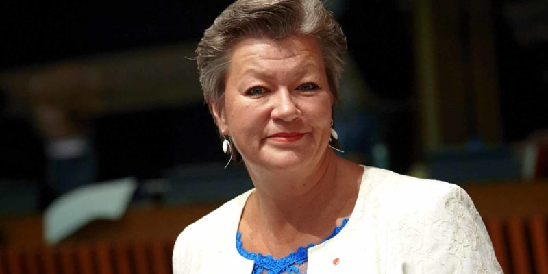 Ylva Johansson Commissioner for Home affairs