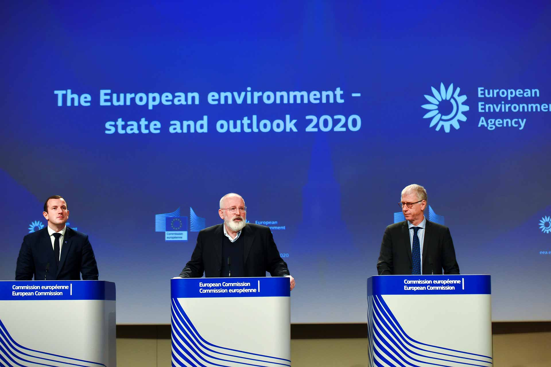 Green Deal EEA State of the Environment Report Virginijus Sinkevičius, Frans Timmermans, Hans Bruyninck