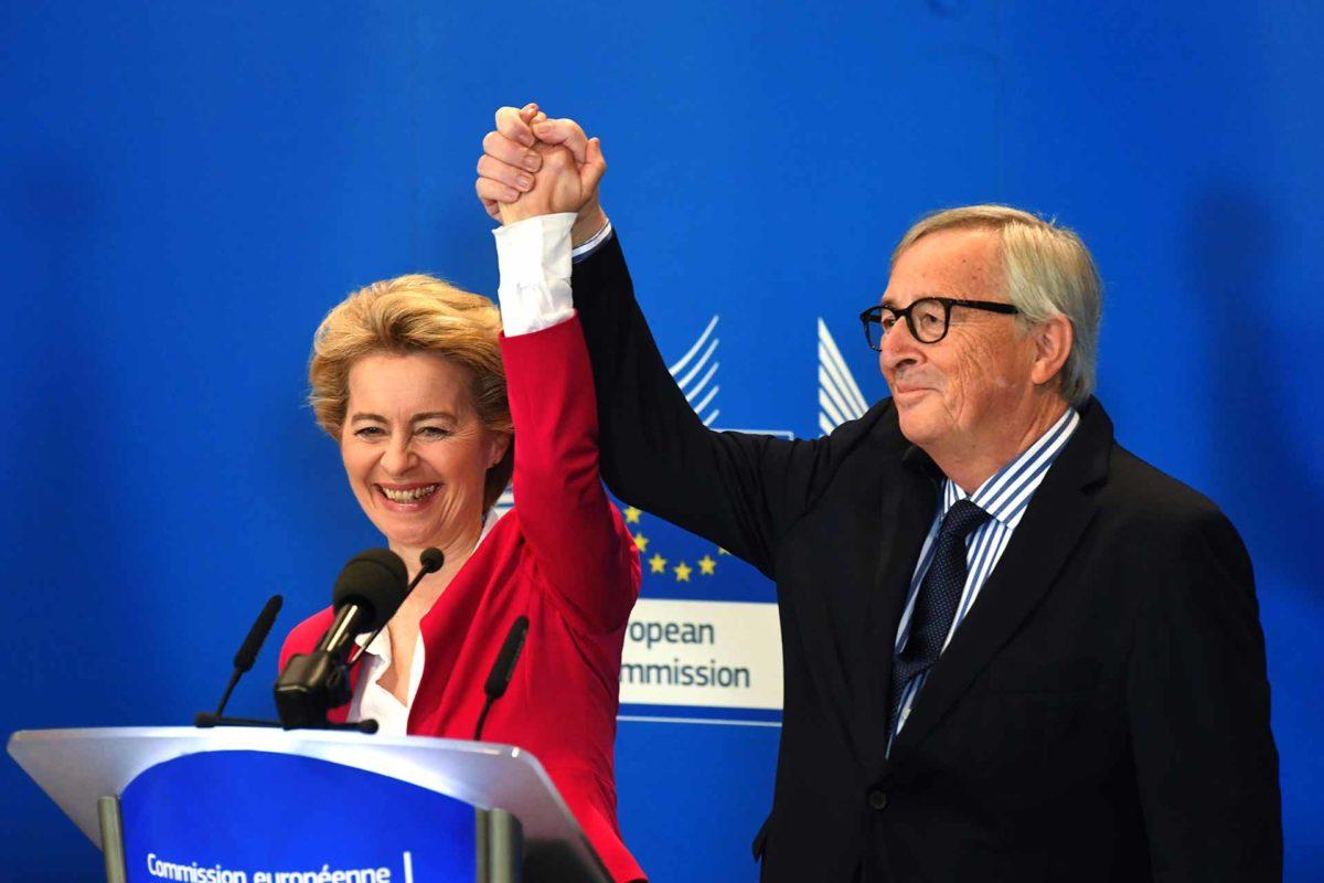Jean-Claude Juncker with Ursula Von Der Leyen