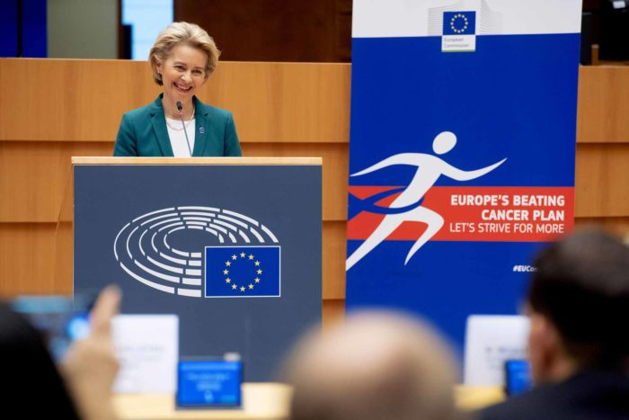 Ursula von der Leyen at EU Beating Cancer Plan