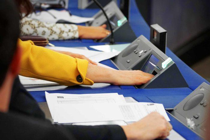 European Parliament Plenary MEPs VOTE