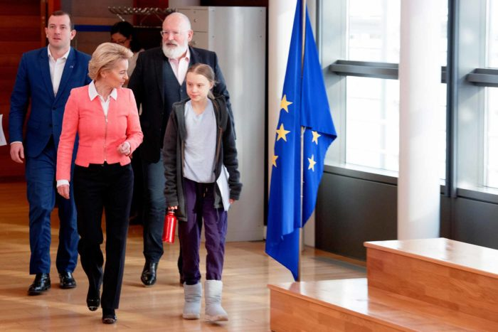 Greta Thunberg and Ursula von der Leyen - EUdebates Green Deal