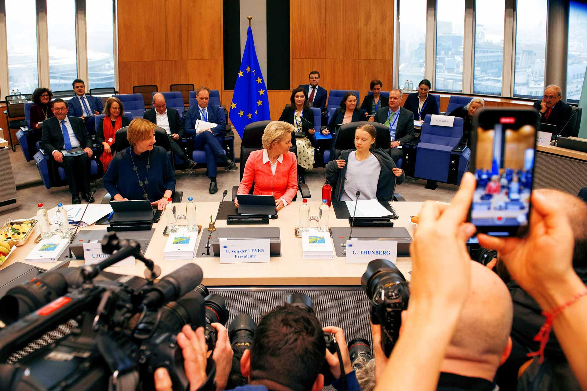 Ursula Von der Leyen and Greta Thunberg debate Climate Law