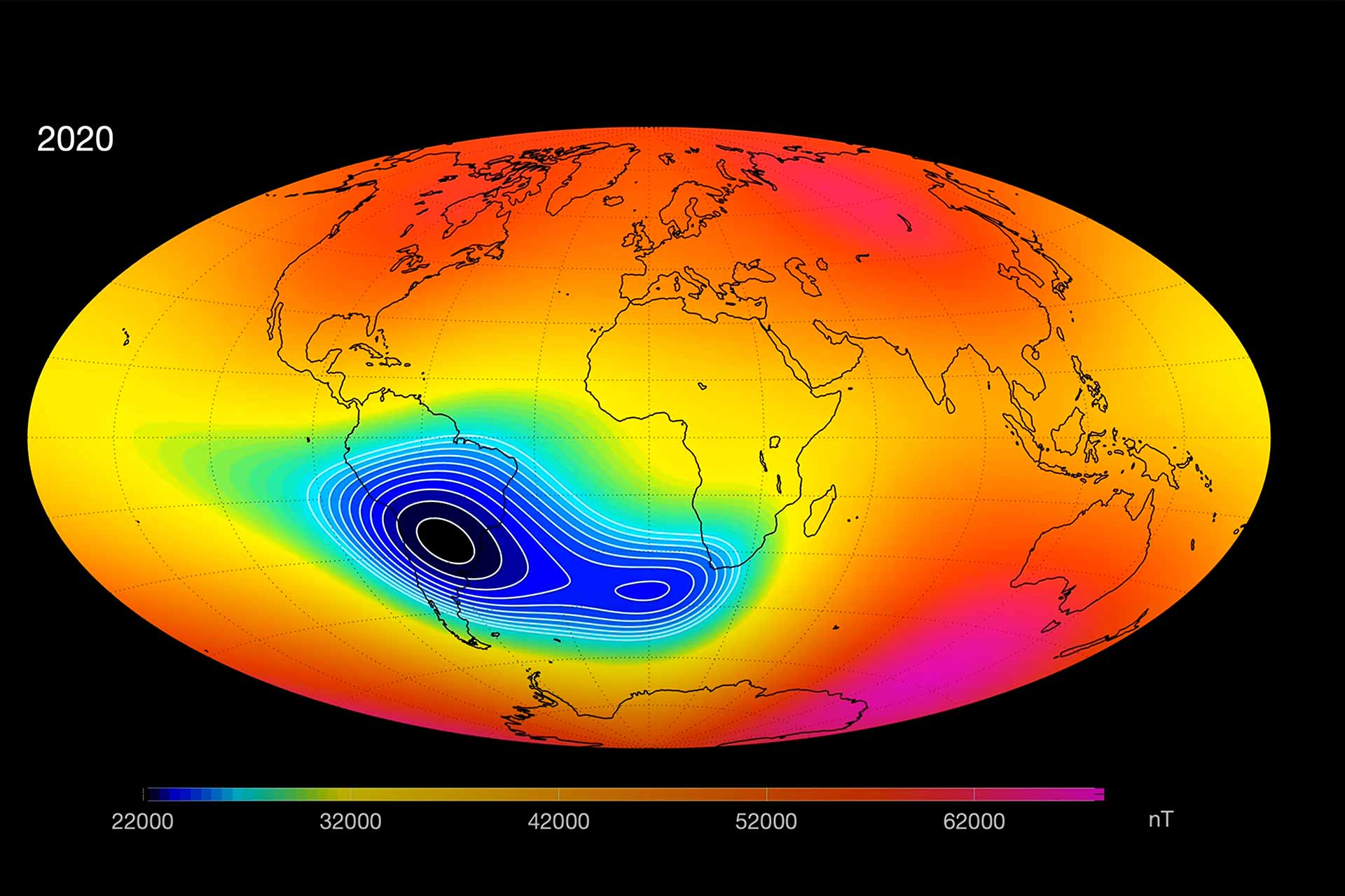 ESA - Magnetic field has become rapidly weaker