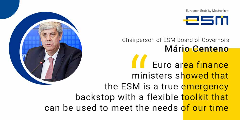 Mário Centeno Chairperson of the ESM Board of Governors on approval of ESM #PandemicCrisisSupport