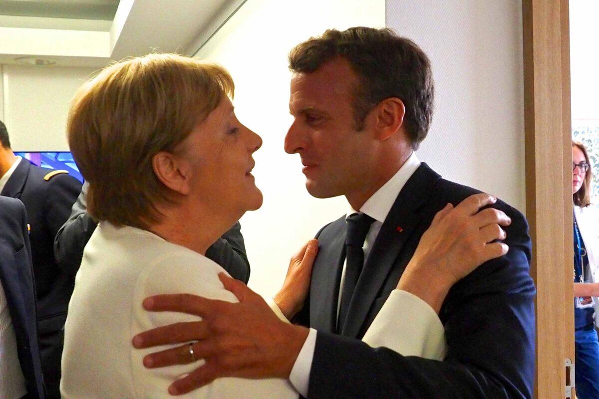Angela Merkel, German Federal Chancellor, Mr Emmanuel Macron, President of France