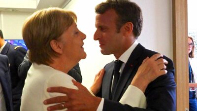 Angela Merkel, German Federal Chancellor, Mr Emmanuel Macron, President of France