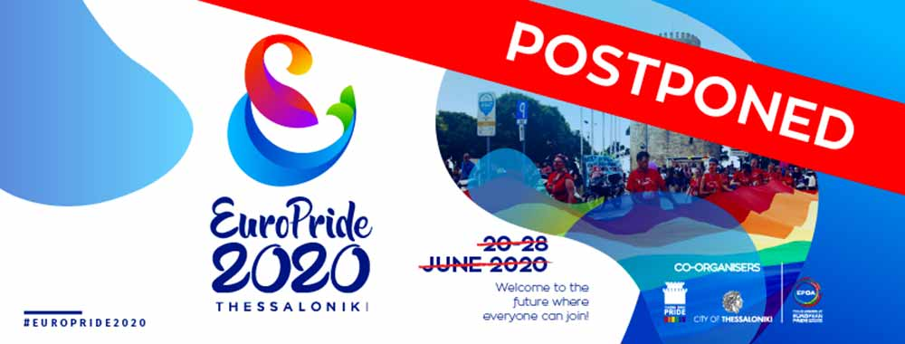 2020 Europride - Thessaloniki Postponed