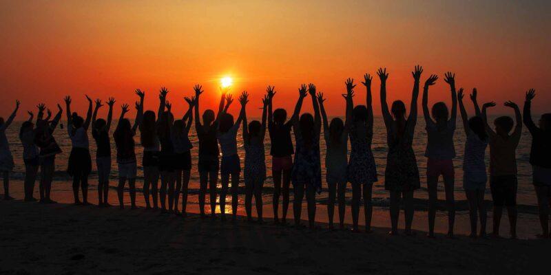 Summer Sunset kids