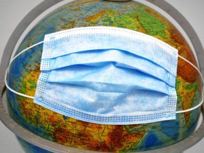 globe atlas mask Corona Covid Covid-19 Coronavirus Pandemic