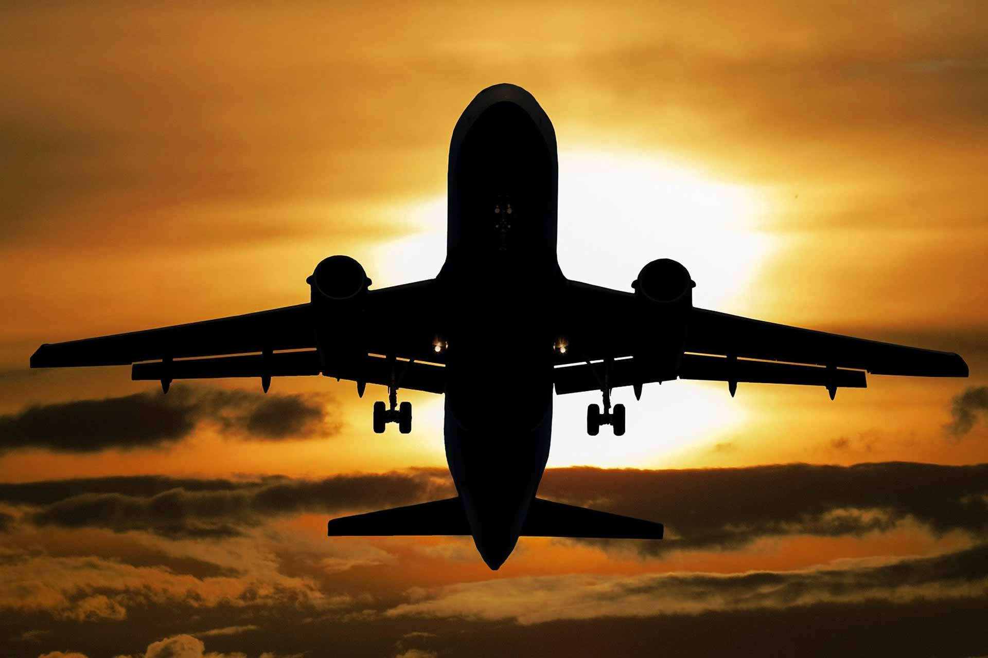 travel airplane landing aircraft