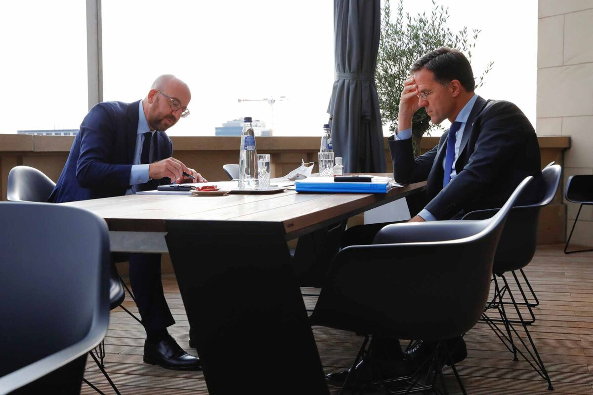 Charles Michel, President of the European Council with Mark Rutte, Dutch Prime Minister