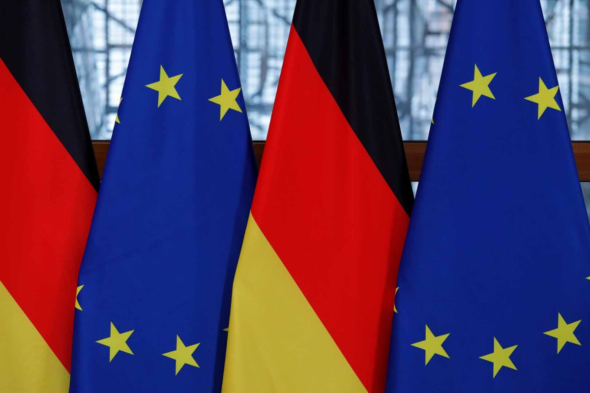123RF.com Flags of the Germany and the European Union. Germany Flag and EU flag