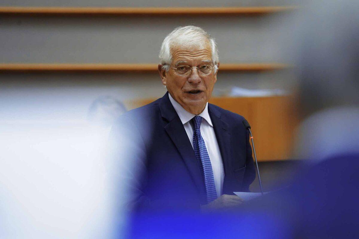Josep Borrell Fontelles in the EUropean Parliament