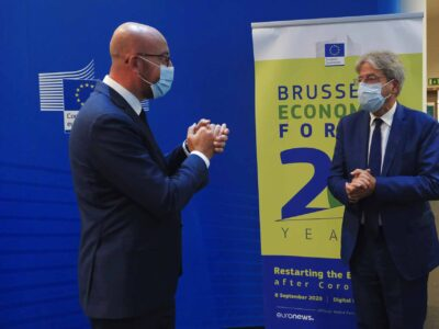 Mr Charles MICHEL, President of the European Council; Mr Paolo GENTILONI, European Commissioner for Economy.