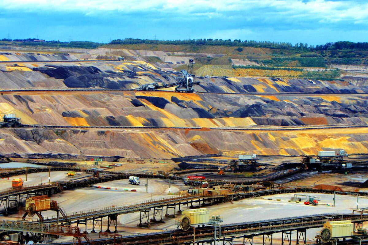 Open pit mining raw materials industry