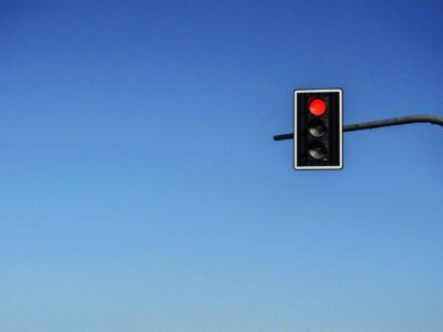 Red Traffic-light sky