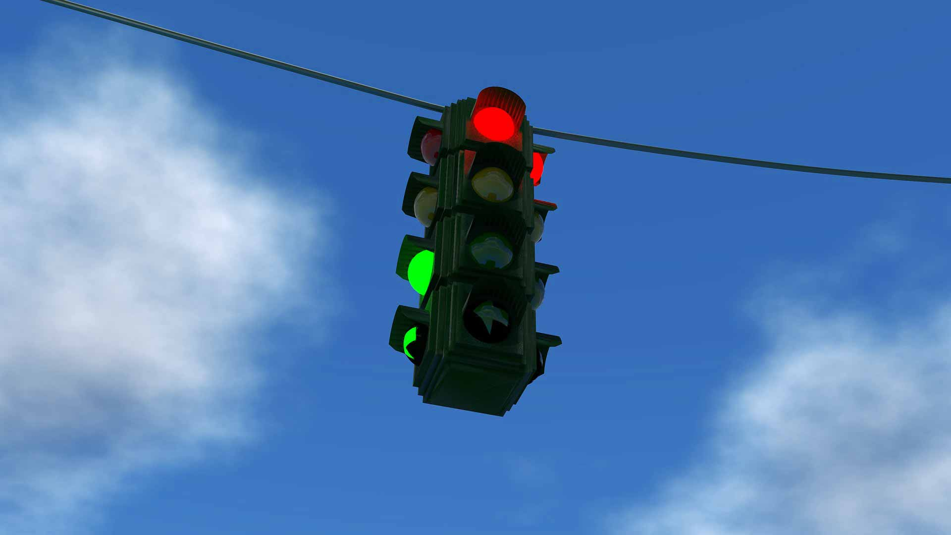 Traffic-light sky
