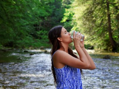 Drinking quality water from nature