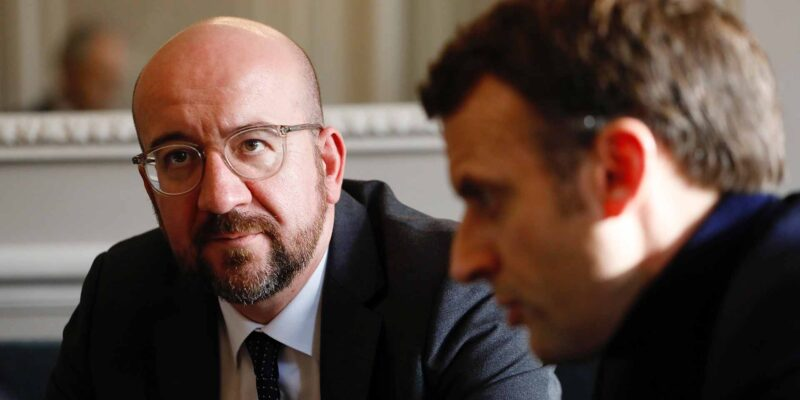 Emmanuel MACRON (President of France, France), Charles MICHEL (President, EUROPEAN COUNCIL)