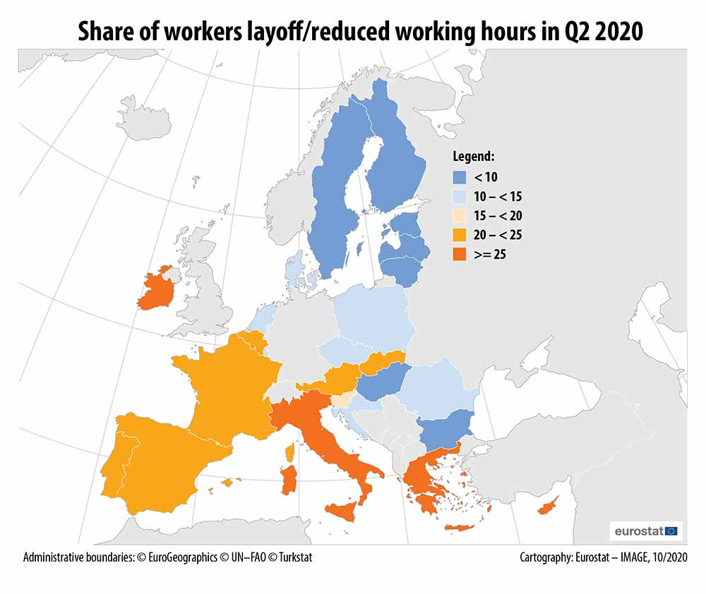 Share of workers layoff_reduced working hours in Q2 2020