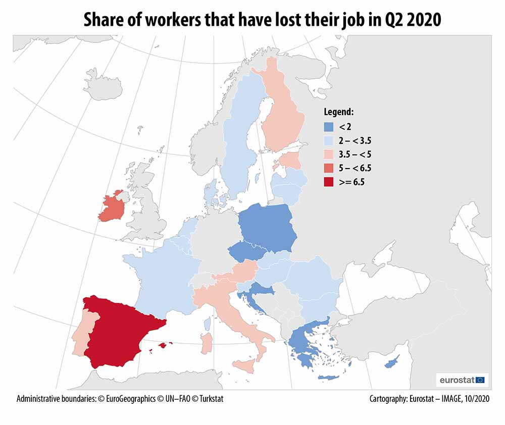 Share of workers that have lost their job in Q2 2020